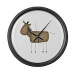 Stick Figure Horse Large Wall Clock
