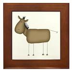 Stick Figure Horse Framed Tile