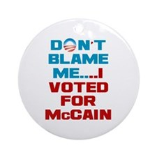 I Voted for McCain Ornament (Round)