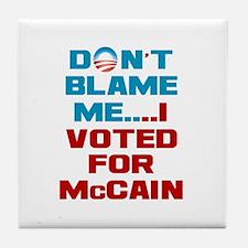 I Voted for McCain Tile Coaster