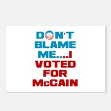 I Voted for McCain Postcards (Package of 8)
