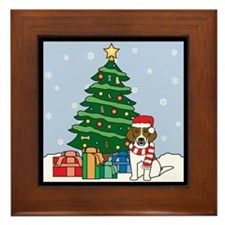 Beagle Christmas Framed Tile