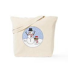 Beagle Holiday Tote Bag
