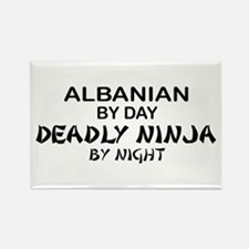 Albanian Deadly Ninja by Night Rectangle Magnet