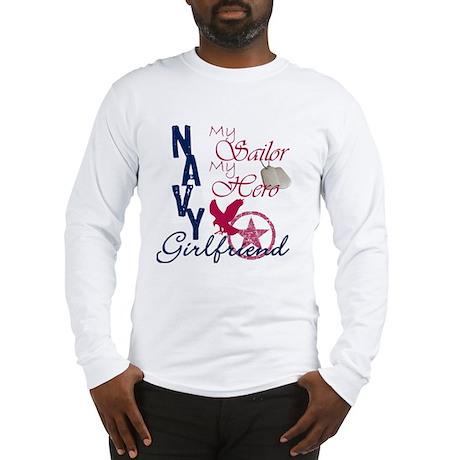 Navy Girlfriend - Eagle Long Sleeve T-Shirt