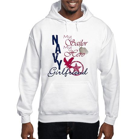 Navy Girlfriend - Eagle Hooded Sweatshirt