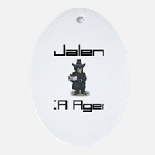 Jalen - CIA Agent Oval Ornament