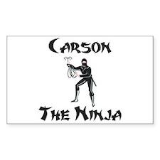Carson - The Ninja Rectangle Decal