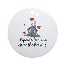 Pepere's Home is Where the Heart Is Ornament (Roun