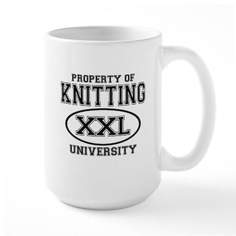 Knitting University Large Mug