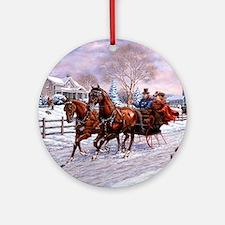 Sleigh Ride Ornament (Round)