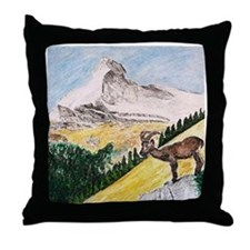 Ibex Mountain Throw Pillow