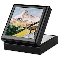 Ibex Mountain Keepsake Box