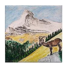 Ibex Mountain Tile Coaster
