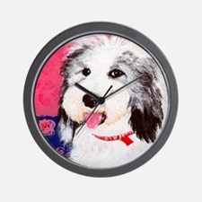 dog_oes_q01 Wall Clock