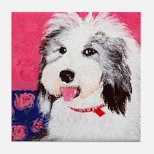 dog_oes_q01 Tile Coaster
