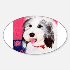 dog_oes_q01 Oval Decal