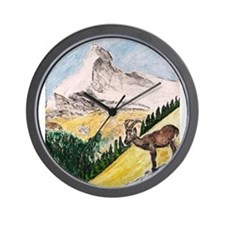 Ibex Mountain Wall Clock