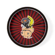 Gas Mask Bondage Chix Wall Clock