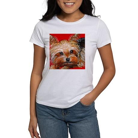dog_yorkie_q01 Women's T-Shirt