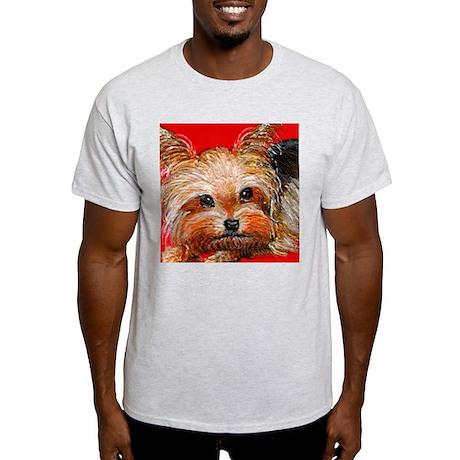 dog_yorkie_q01 Light T-Shirt