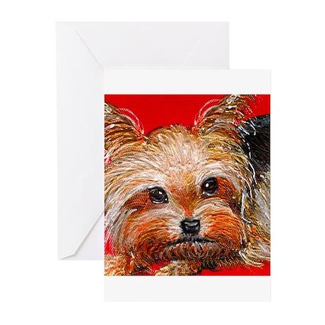 dog_yorkie_q01 Greeting Cards (Pk of 20)