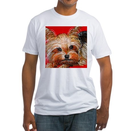 dog_yorkie_q01 Fitted T-Shirt