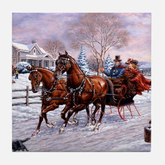 Sleigh Ride Tile Coaster