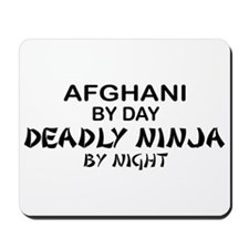 Afghani Deadly Ninja by Night Mousepad