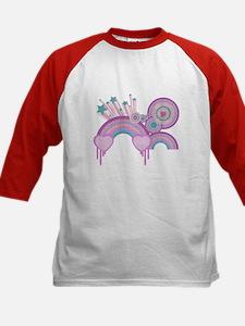 Rainbow Hearts Spirals Hippie Design Tee