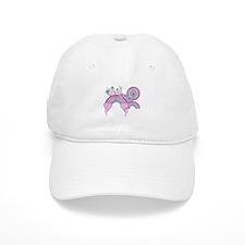 Rainbow Hearts Spirals Hippie Design Baseball Cap