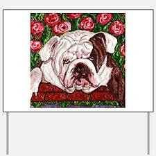dog_bulldog_q01 Yard Sign