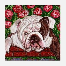 dog_bulldog_q01 Tile Coaster