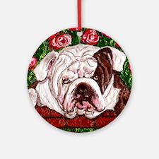 dog_bulldog_q01 Ornament (Round)