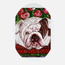 dog_bulldog_q01 Oval Ornament