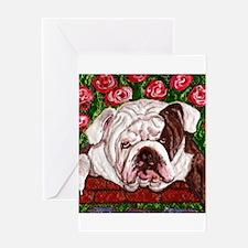 dog_bulldog_q01 Greeting Card