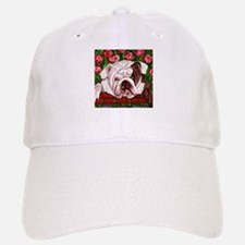dog_bulldog_q01 Baseball Baseball Cap