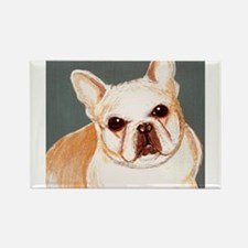 dog_french_q01 Rectangle Magnet