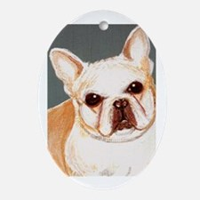dog_french_q01 Oval Ornament
