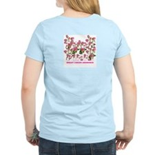 THINK PINK Roses Women's Pink T-Shirt