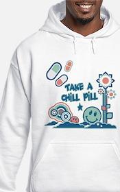 Chill Pill Retro Collage Design Hoodie