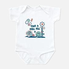 Chill Pill Retro Collage Design Infant Bodysuit
