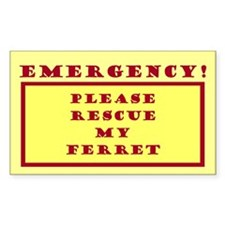 Rescue My Ferret - Emergency Door/Window Decal