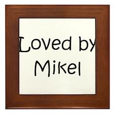 Cute Mikel Framed Tile