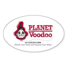 Planet Voodoo Oval Decal