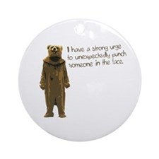 Wicker Man Bear Suit Punch Ornament (Round)