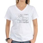 County Signal Number 1 Women's V-Neck T-Shirt