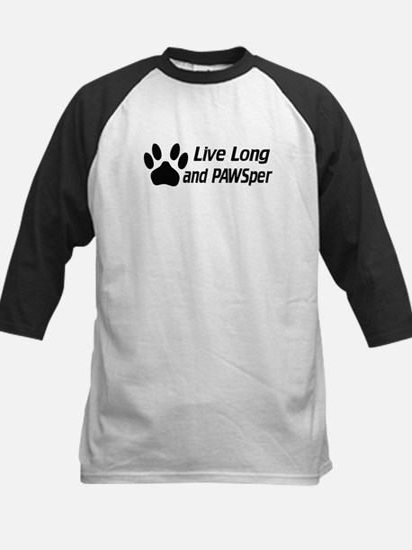 Live Long And Pawsper Kids Baseball Jersey