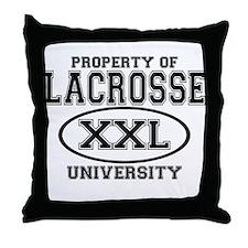 Lacrosse University Throw Pillow