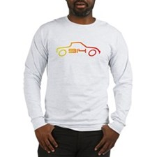 914 Outline in Flame Colors - Long Sleeve T-Shirt